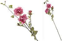 """Искусственные цветы """"Роза"""" ветвь декоративная с розами, 90см, набор 6 шт"""