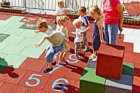 Резиновая плитка для детских и игровых площадок, фото 1