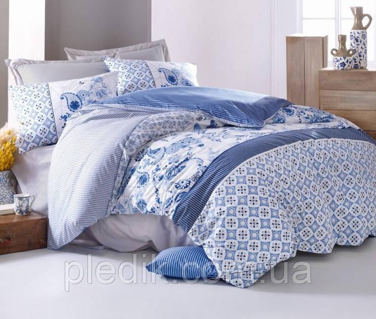 Купить Двуспальное постельное бельё 200х220 Cotton box Ранфорс MILO MAVI