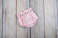 Блумеры, шортики на памперс, розовые р.62 (0-3мес.), фото 1