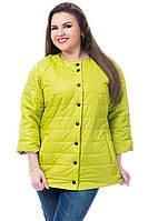 Жіноча куртка батал, арт 203, колір яблуко, фото 1