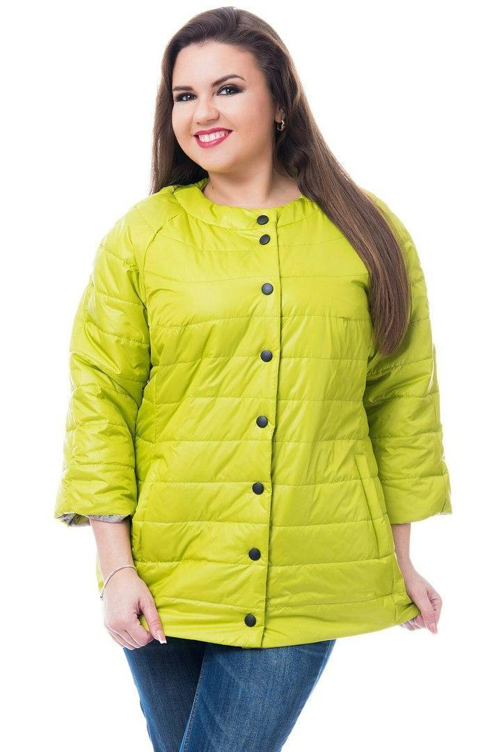 Жіноча куртка батал, арт 203, колір яблуко