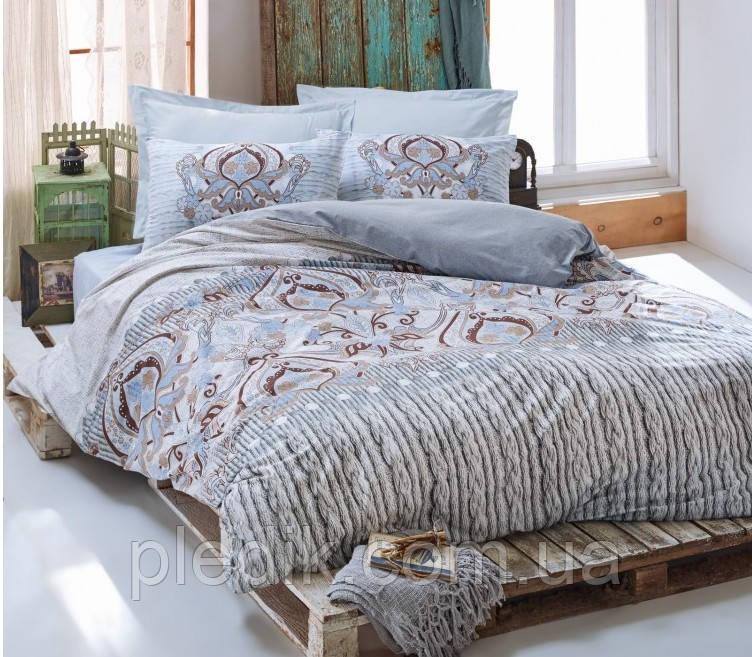 Купить Двуспальное постельное бельё 200х220 Cotton box Ранфорс VERONA MAVI