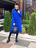 Женское пальто удлиненное на кнопках с карманами плащевка Canada утеплитель силикон 200 размер:42,44,46, фото 3