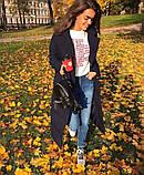 Женское пальто удлиненное на кнопках с карманами плащевка Canada утеплитель силикон 200 размер:42,44,46, фото 4