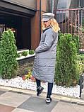 Женское пальто удлиненное на кнопках с карманами плащевка Canada утеплитель силикон 200 размер:42,44,46, фото 6