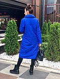 Женское пальто удлиненное на кнопках с карманами плащевка Canada утеплитель силикон 200 размер:42,44,46, фото 7