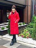 Женское пальто удлиненное на кнопках с карманами плащевка Canada утеплитель силикон 200 размер:42,44,46, фото 8
