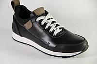 Весенняя детская спортивная обувь из натуральной кожи ДФ 3112 черный