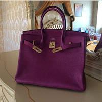 021923be8de3 Женская сумка Hermes Birkin 35 см цвет фиолетовый сиреневый шикарная Original  quality Гермес Биркин