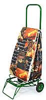 Усиленная хозяйственная сумка тележка на колесах с подшипниками Кухня (0074)