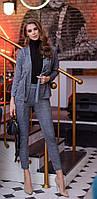 Стильный женский брючный ангоровый костюм пиджак под пояс42, 44, 46