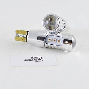 Светодиодная авто лампа  SLP LED с цоколем T10 (W5W) Cree 80W Canbus 9-30V Красный, фото 2