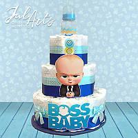 """Торт из подгузников """"Baby Boss"""" мальчик"""