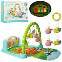 Развивающий музыкальный коврик пианино для младенца 9911