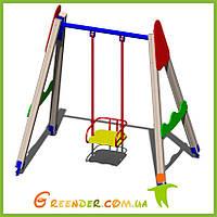 Качели деревянные B43 детские игровые площадки