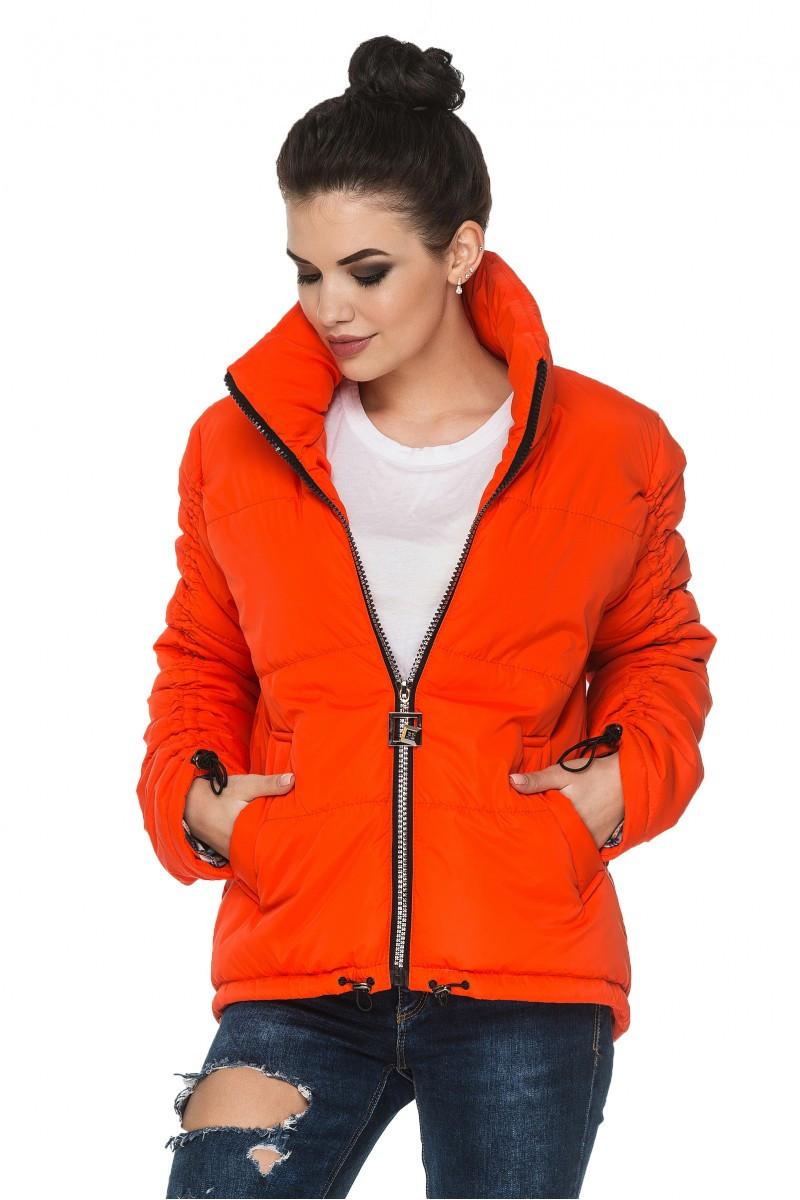 Куртка женская  короткая с воротником стойка с 44 по 54 размер 5цветов