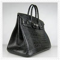 ff7e5f6e47c1 Женская сумка Hermes Birkin 35 см черная рептилия крокодил Original quality  Гермес Биркин Эрме