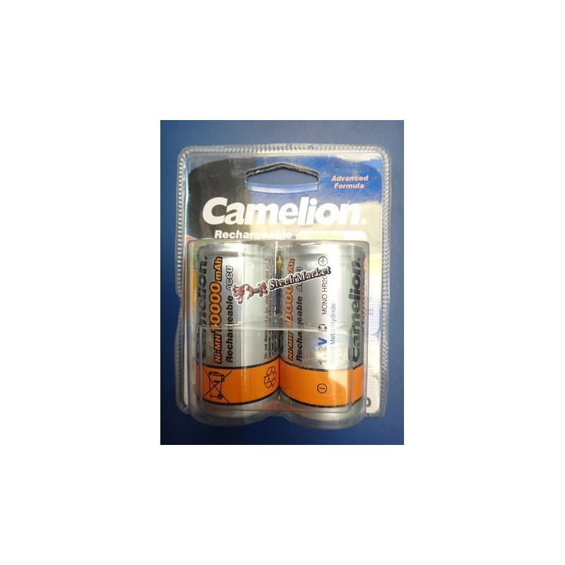 Аккумулятор Camelion D20 10000mAh 1.2V Ni-MH R20 NC-D10000BP2