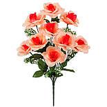 Букет розы раскрытой , 47см (10 шт в уп), фото 2