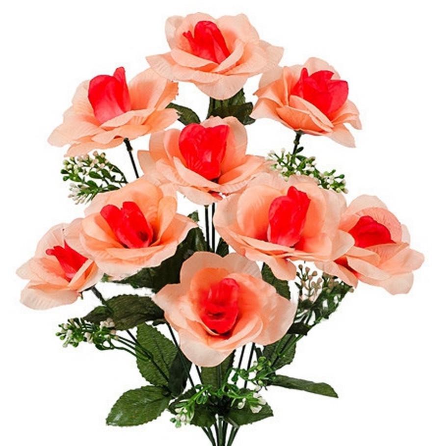 Букет розы раскрытой , 47см (10 шт в уп)