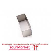 Форма прямоугольная для формирования гарнира и салата Steelay 80х40 мм, h=35мм з/п