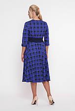 ebd763bac90 Платье в клетку для полных женщин Луиза электрик  905 грн. Купить в ...