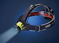 Фонарь налобный линзовый Tiross TS-1866 CREE XP-G3 , 270 lumen, оптический Zoom, 3*АА