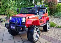 Детский электромобиль Джип Jeep Wrangler M 3237 EBLR-3 красный. Полный привод, 4Х4, EVA, кожа. Разные цвета.