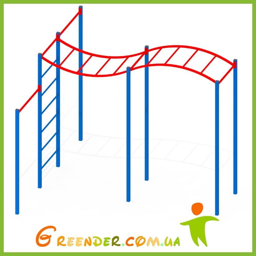 Детский спортивный комплекс Рукоход M4-1 активные игры на улице