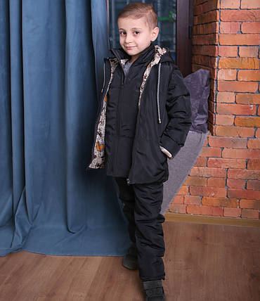 Демисезонный детский комбинезон Костюм с курткой, жилет, фото 2