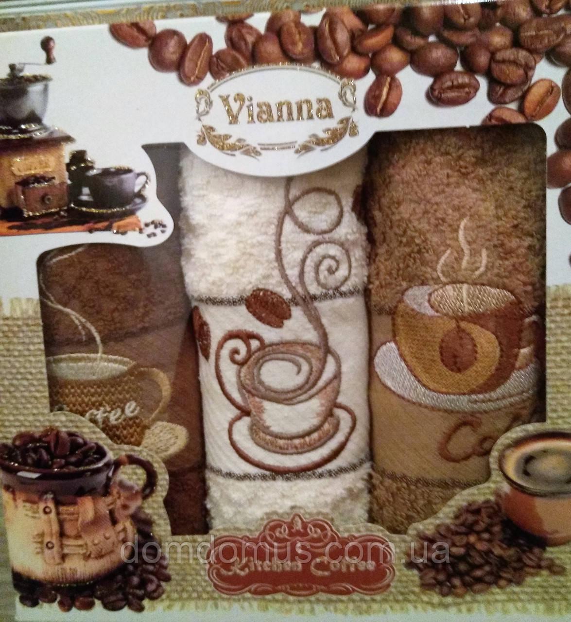 """Махровые кухонные полотенца """"Cappucino"""" 40*60 см Vianna 3 шт., Турция"""