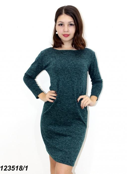 Сукня з ангорового трикотажу, зелене 42,44,46,48