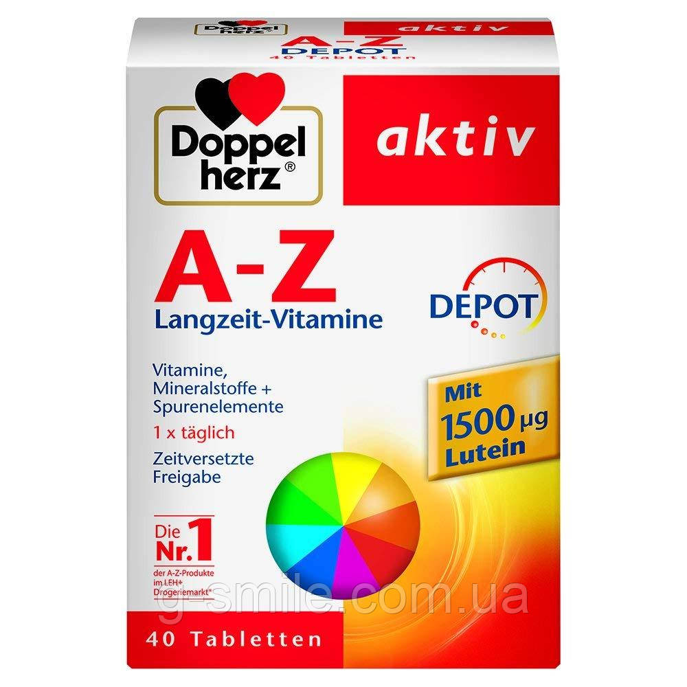 Doppelherz A-Z Depot Tabletten, 40 St. Биологически активная добавка Допельгерц от А до Цинка