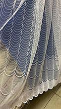 Турецкий фатин с вышивкой 1.60м 1845 белого цвета