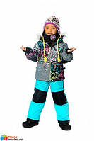 Комплект зимний для девочки Deux par Deux J317, цвет 444
