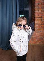Весенняя детская куртка с капюшоном белая со звездами Новинка Топ продаж , фото 3