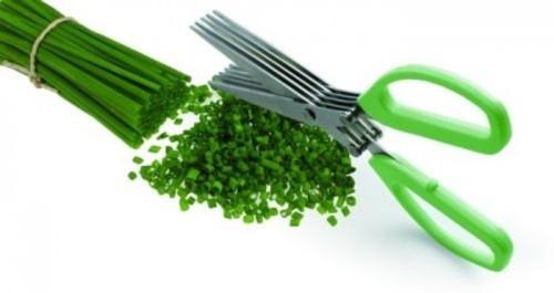 Кухонный нож-ножницы для зелени и овощей
