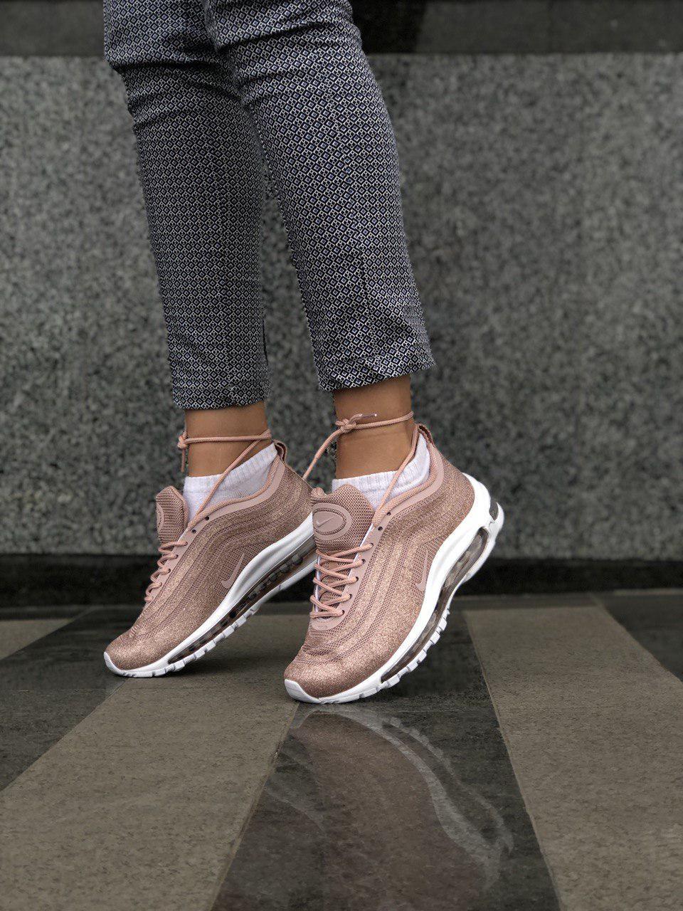 09a5ff25 Кроссовки в стиле Nike Air Max 97 LX Swarovski Pink женские: фото ...