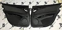 Дверні карти чорні тканина Mercedes e-class w211