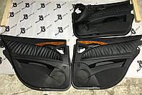 Дверные карты черные кожа Mercedes e-class w211