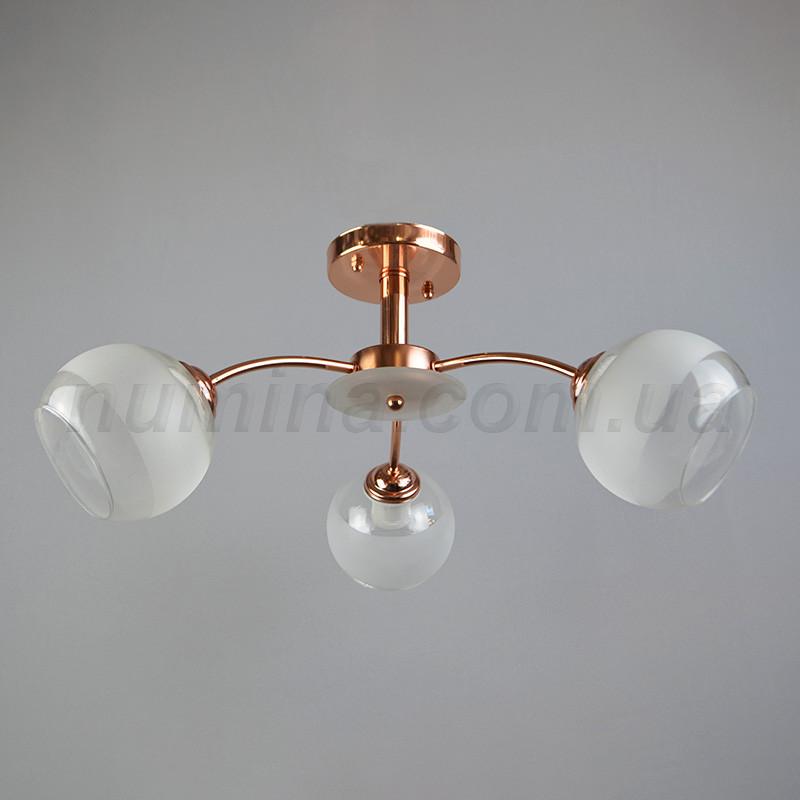 Люстра стельова на три лампочки 29-A561/3PKGD+W