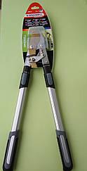 Профессиональный секатор для срезки ветвей с храповым механизмом d 40 мм c выдвижными ручками