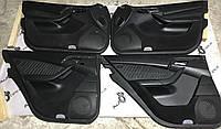 Дверные карты черные кожа mercedes s-class w220, фото 1