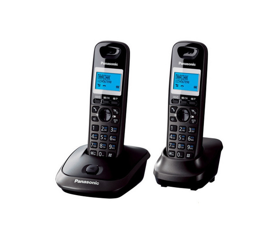 Радіотелефон Panasonic KX-TG2512UAT Титан + доп. трубка, АОН, Caller ID
