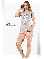 Пижама женская летняя хлопок шорты - майка Fawn 5672