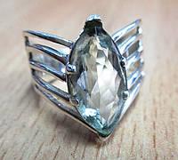 """Изящный перстень """"Маркиза """" с празеолитом , размер 18, фото 1"""