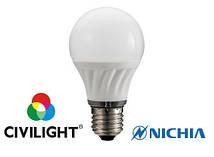 Светодиодная лампа CIVILIGHT с индексом цветопередачи CRI97 G45 K2F40Т6 тепло белая 2700К  Е27 7219
