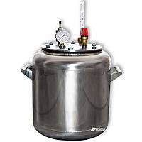 Автоклав бытовой из нержавейки «УТех-А16» (7 литровых/16 пол литровых банок)