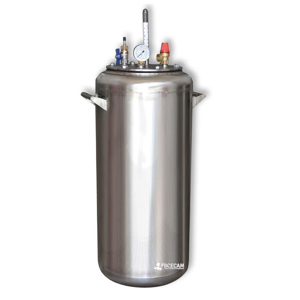 Автоклав бытовой из нержавейки «УТех-А40» (28 литровых/40 пол литровых банок)
